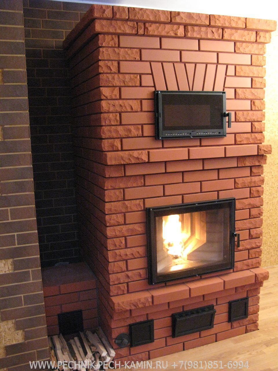 Камин-печь для дома из кирпича своими руками фото 61
