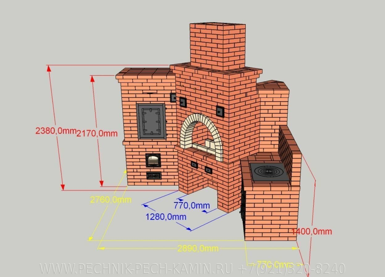 Угловой барбекю комплекс пошаговая инструкция