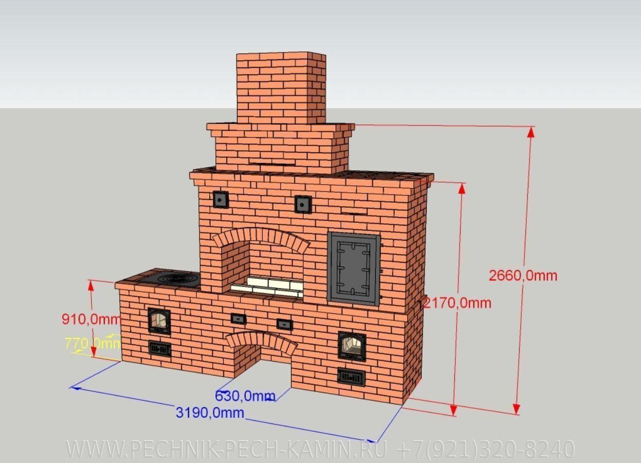 Как построить кирпичную печь 64