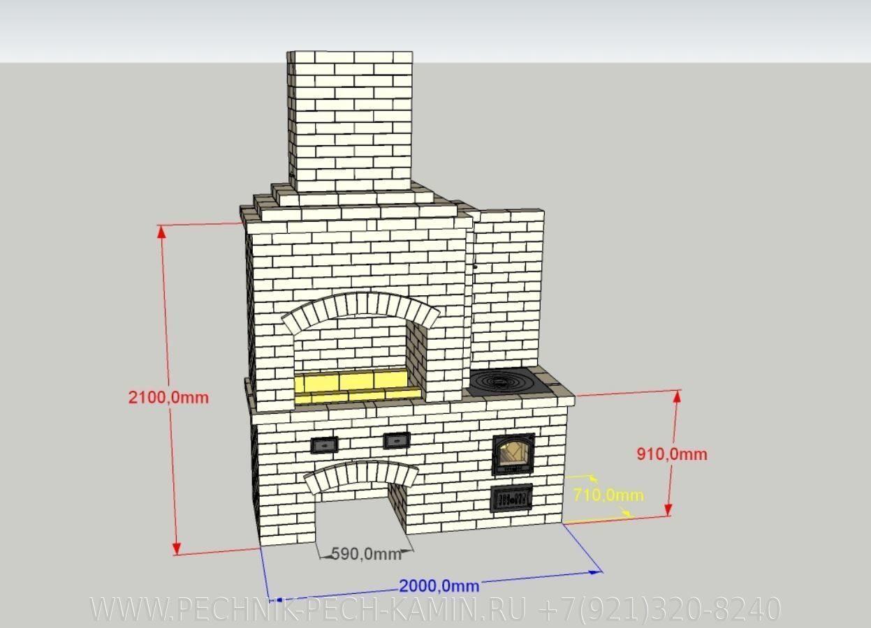Как построить кирпичную печь 70