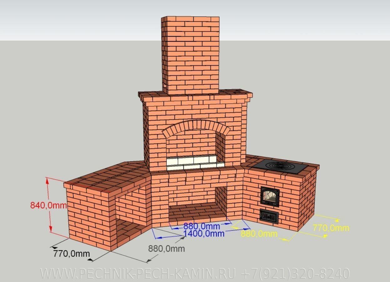 Как построить кирпичную печь 56